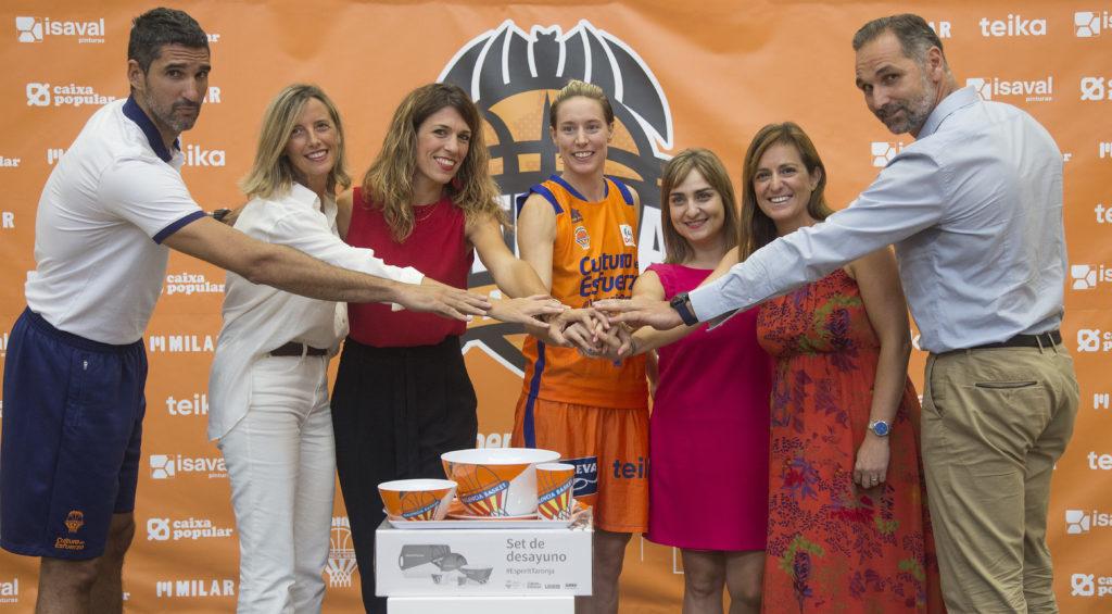 Milar colabora con el Valencia Basket femenino